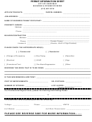 Permit Information Sheet - City Of Fairfield - Building & Zoning Division