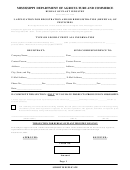 Application For Registration And/or Reregistration (renewal) Of Pesticides Form