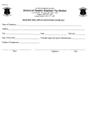 Form Tx-61-a - Request For Application For Coverage - Rhode Island Division Of Taxation