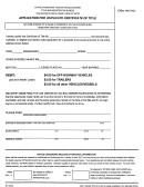 Form Mv7 - Application For Duplicate Certificate Of Title - Montana Motor Vehicle Division