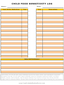 Child Food Sensitivity Detection Log - Yellow