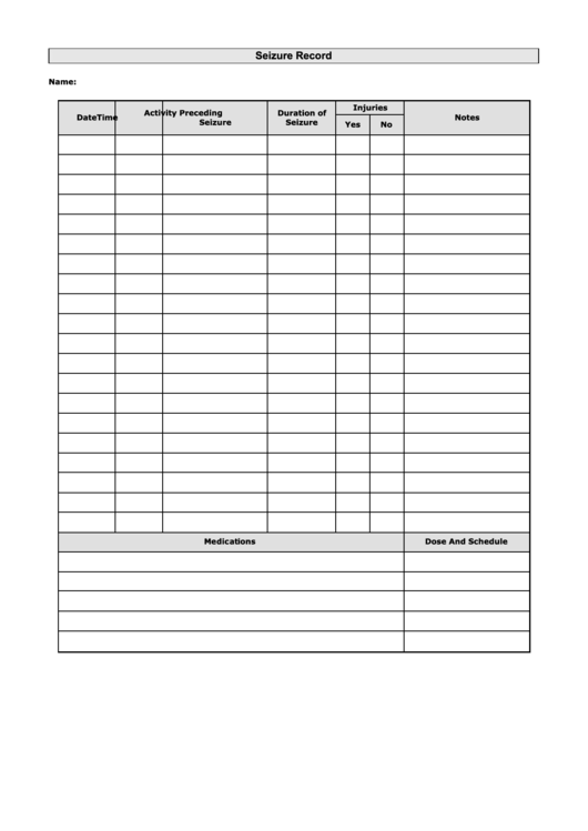 seizure record printable pdf download