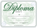 Green Diploma Template