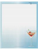 Blue Rainbow Cocktail Recipe Card 8x10