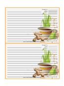 Tea Ginger Orange Recipe Card Template