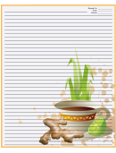 Tea Ginger Orange Recipe Card 8x10