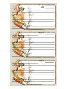 Ginger Gray Recipe Card Template