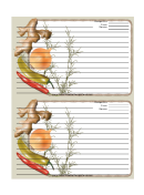 Ginger Gray Recipe Card