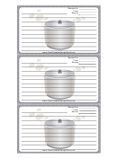 Crockpot Gray Recipe Card Template