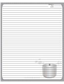 Crockpot Gray Recipe Card 8x10