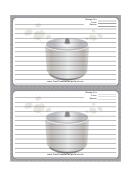 Crockpot Gray Recipe Card