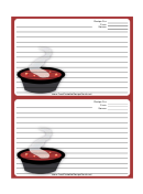 Soup Deep Red Recipe Card