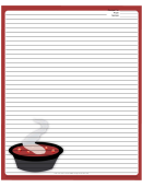 Soup Deep Red Recipe Card 8x10