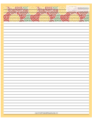 Yellow Curlicues Recipe Card 8x10