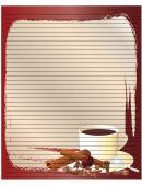 Cinnamon Coffee Red Recipe Card 8x10