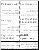 Organism Evolution Flash Cards