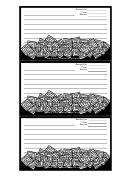 Black White Squares Recipe Card Template