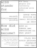 Aids Virus Flash Cards