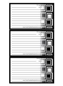 Black Squares Recipe Card Template