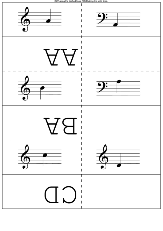 Learn To Read Music Flash Cards