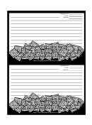Black And White Squares Recipe Card Template
