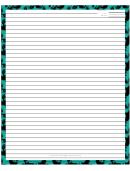 Green Border Recipe Card 8x10