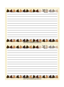 Yellow Chocolate Chips Recipe Card 4x6 Template