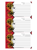 Red Chinese Food Recipe Card Template