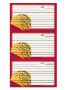 Tacos Recipe Card Template