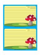 Blue Mushrooms Recipe Card