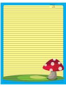 Blue Mushrooms Recipe Card 8x10