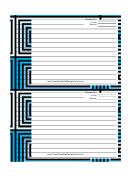 Blue Black Geometric Recipe Card