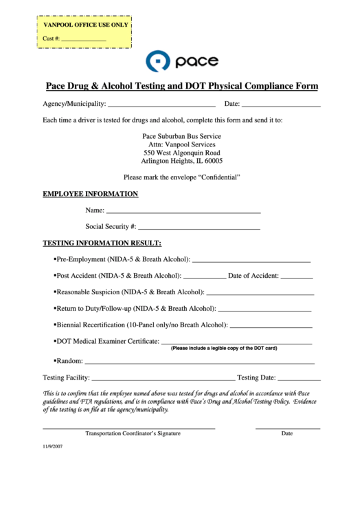 Top 5 Dot Physical Form Templates free to download in PDF format