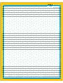 Blue Yellow Border Recipe Card 8x10