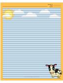 Cows Orange Recipe Card 8x10