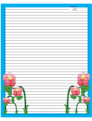 Blue Flowers Recipe Card 8x10
