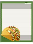 Tacos Green Recipe Card 8x10