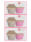White Cupcakes Recipe Card Template