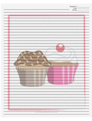White Cupcakes Recipe Card 8x10