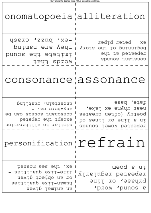 Literary Devices Flash Cards