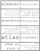 Non-fiction Works Flash Cards