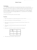 Blood Types Worksheet