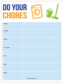 Do Your Chores Chore Chart - Weekly