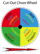 Cut-out Chore Wheel Template