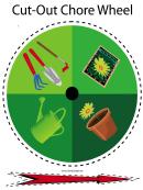Garden Chore Wheel Template