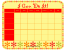 I Can Do It Weekly Chore Chart