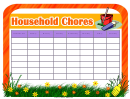 Household Chore Chart