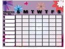 Flowers Weekly Chore Chart