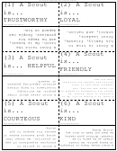 The Meaning Of The Boy Scout Law Flash Cards