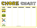 Before School Chore Chart - Weekly